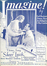 "SHEER LUCK Sheet Music ""Imagine"" Nick Stuart Jobyna Ralston"