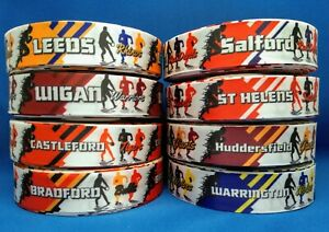 Rugby League teams style satin craft/cake/hair ribbon @ MrsMario's