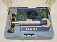 1954 C1 GILLETTE BLUE TIP SUPER SPEED VINTAGE DOUBLE EDGE SHAVING SAFETY RAZOR