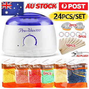 Depilatory Hair Removal Brazilian Hard Wax Bean Warmer Heater Pot Machine Kit AU