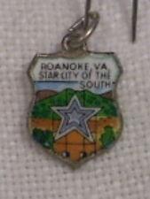 Vintage REU Sterling/Enamel Roanoke, Virginia - Star City Bracelet Charm
