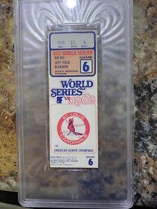 PSA 1982 World Series Ticket G6 St. Louis Cardinals Ozzie Smith Sutter