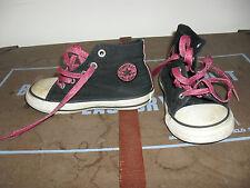 Converse All Stars nera con dettaglio rosa glitter e Lacci. Taglia 8