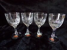 "GORHAM HEARTHGLOW  WINE GLASSES 5-3/4"" TALL SET OF 4 MINT"
