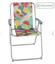 Garden Patio Beach Home Metal Folding Picnic Chair - Ipanema Fruit Pattern NEW