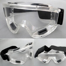 46a84fc5a74 UK Clear Lens Protective Safety Glasses Eye Protection Goggles Lab New