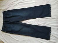 "MENS EASY FADED BLUE STRAIGHT LEG JEANS SIZE 38"" WAIST 32"" LEG"