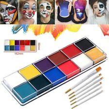 IMAGIC 12 Colors Face Body Flash Tattoo Oil Painting Pigment Halloween Makeup