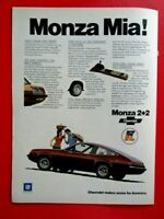 "1975 Chevrolet  Monza 2 + 2 Monza Mia ! Original Print Ad-8.5 x 11"""