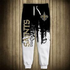 NEW ORLEANS SAINTS Men's Sweatpants Pants Polyester S-6XL Football Team Logo