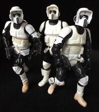 Star Wars Saga Collection + PoTj Biker Scout Lot Figures Loose Complete
