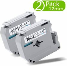 2pk M K231 Label Tape Compatible Brother P Touch Label Maker 12mm Black On White