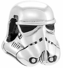 Genuine Chamilia 925 Silver Star Wars Storm Trooper Helmet Charm Bracelet Bead