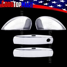 For Dodge CHALLENGER 2011-2014 2015 Chrome Covers Set Full Mirrors+2 Doors SMART