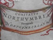Map, J. Blaeu, Northumberland, c.1650,  Antique Original, Framed