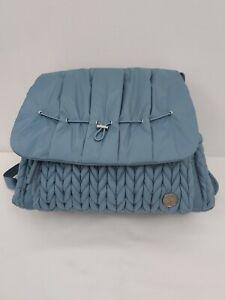 Happ Brand Levy Diaper Bag Backpack Blue