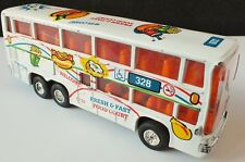Dib Toys Fresh & Fast Food Court Double Deck Coach 16cm Diecast Toy. Uk Dispatch