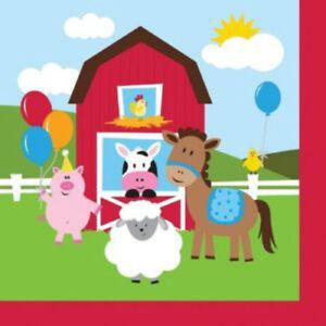 Farmhouse Fun Lunch Napkins - Birthday Party Supplies