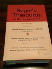Roget's Thesaurus In Dictionary Form by Barbara Ann Kipfer Pap 2nd Edition 1999