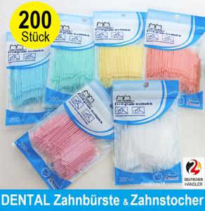 Interdentalbürste Sticks 200x Dental Bürsten Zahnreinigung Zahnzwischenraum ♻