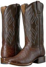 Roper Men's Big Bird Boots, Brown Faux Ostrich Vamp/Brown Shaft, Sizes 10.5 &11D