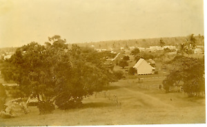Tonga, rue de la Capitale Vintage albumen print,  Tirage albuminé  12x19