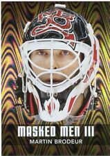 10/11 BETWEEN THE PIPES MASKED MEN III MASK SILVER #MM-32 MARTIN BRODEUR *44325