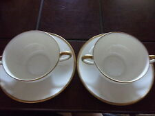 Noritake Nippon Goldena Cream and Gold 4pc Soup Cup and Saucer
