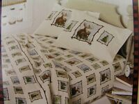 Flannel Sheet Sets, Woolrich Home Premium, Outdoor Animals Scene