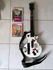 Lot Guitar Hero 5 + Legends Of Rock + Guitare sur Nintendo WII