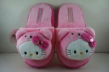 Jolies filles enfants femmes rose soft plush pantoufles 26 cm pour hello kitty + pendentif