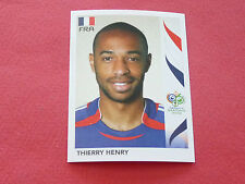 469 THIERRY HENRY FRANCE PANINI FOOTBALL GERMANY 2006 WM FIFA WORLD