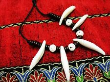 new sale 10pc lots  Tribal  teeth white tibet amulet barbarian Pendant&Necklace