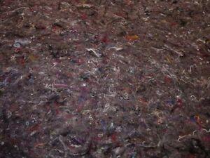 (EUR 14,99 / m²) 0,8 m² graue leicht genadelte Polsterwatte / Naturprodukt