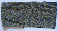 Echarpe foulard face 100% soie et face 100% laine  TBEG  Scarf 170 cm x 28 cm