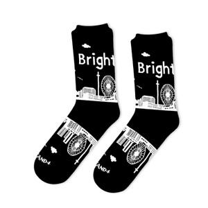 Brighton City Skyline Socks - Black Cotton