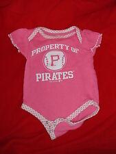 Pittsburgh Pirates Baseball Creeper Baby Clothes Shirt 6 - 9 Months Pink MLB