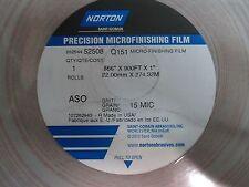 PRECISION MICROFINISHING FILM .886 X 900FT X 1 NORTON 15 MIC 52508 (LL2866)