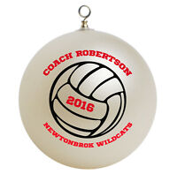 Personalized Custom Volleyball Coach Christmas Ornament