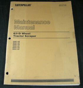 CAT CATERPILLAR 631D Wheel Tractor Scraper Maintenance Manual Lubrication Guide