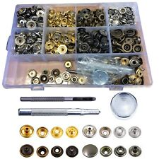 200pcs Press Studs Snap Fasteners Button with Hand Fixing Tool Kit 12mm/15mm UK