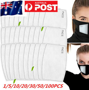 Safe 5 Layers PM2.5 Face Mask Filter For Adult Anti Pollution Filters Pad AU