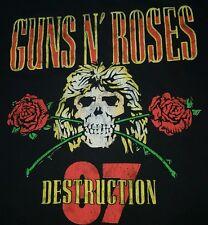 Guns and roses t shirt x lAppetite for Destruction 1987 tour