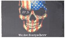 111% We Are Everywhere Usa Skull 100D Poly Nylon 3x5 3'x5' Trump Flag Banner