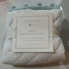 Pottery Barn Baby Pom-Pom Nursery Sham White w Green New