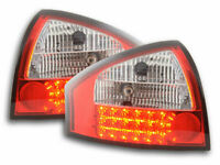 AUDI A6 4B C5 SALOON CLEAR LED REAR LIGHTS LAMPS 1/1997-2003