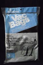 3 NEW Vacuum Bags Hoover Single and Bissell Vacuums -Type A Style 2 SUB-3 HEMS-1