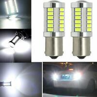 2Pc LED Car White Bulb BA15S P21W 1156 Backup Reverse Light 12V 33-SMD 5630 5730