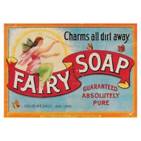Metal Wall Plaque Fairy Soap Washing Kitch Vintage Advertising Sign Garage Shed