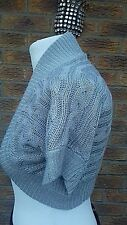 JANE NORMAN Silver Glitter Shrug/cardigan Size 12.